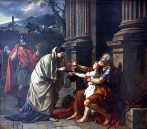 Belisaire demandant l'aumône, par Jacques-Louis David, 1781.
