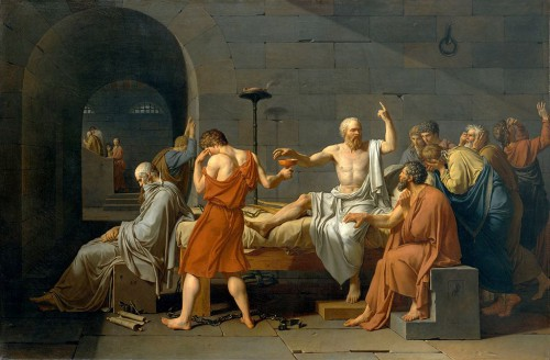Jacques-Louis David, La mort de Socrate (1787)