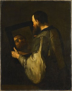 Jusepe de Ribera, Le philosophe au miroir (1652)