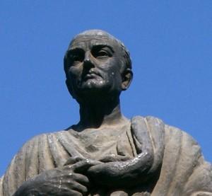 Sénèque (4 av JC - 65 ap JC), philosophe stoïcien et homme d'état romain, précepteur de Néron.